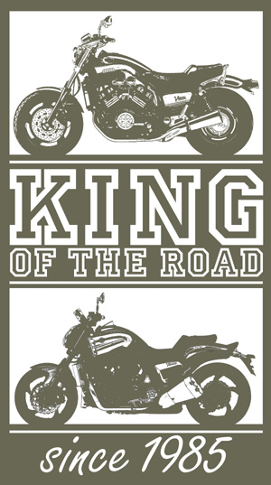 "T-Shirt oliv ""Vmax - KING OF THE ROAD since 1985"""