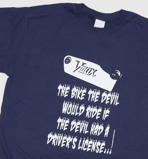 "T-Shirt navy-blau ""Vmax - THE BIKE THE DEVIL WOULD RIDE"""