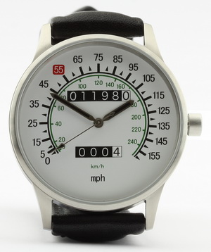 Vmax Speedometer Watch With Combined Mph And Km H Dial